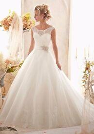Morilee Lace Wedding Dress Size 14 (fits Uk12) by Madeline Gardner