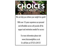 Choices Weight Loss with Kate Fisher