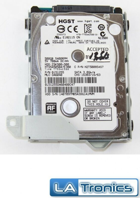 OEM HGST 500GB SATA Hard Drive HDD w/ Caddy Sony PlayStation 4 PS4 CUH-1115 A/B