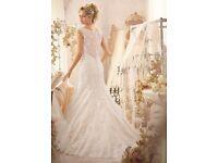 Mori Lee wedding dress size 8 and veil