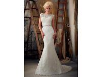 Mori Lee size 8 lace wedding dress