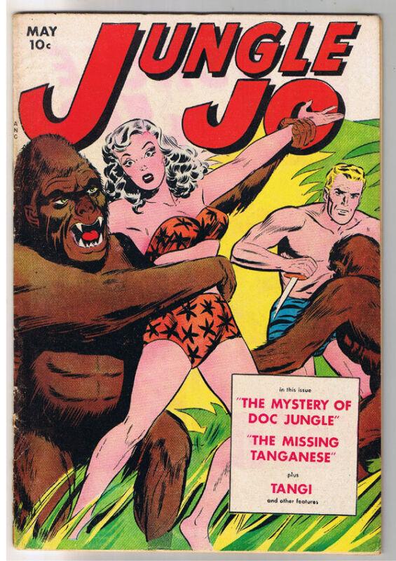 JUNGLE JO #1, VG+, Wally Wood, Girl, Tangi, Comic, 1950, Golden Age,Pre-code