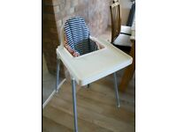 IKEA Antilop High chair with accessories
