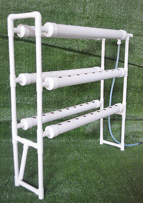 Hydroponic Grow Kit Vertical Double Side 6 Pipe 54 Plant Site Tool