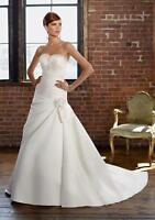 Never Used Mori Lee Bridal Gown 4812 Ivory Color Size 14