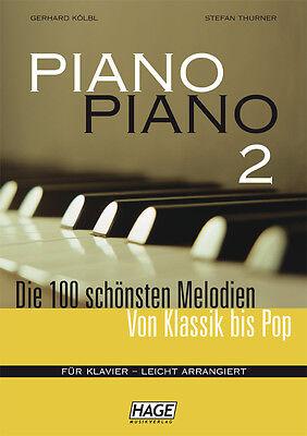 HAGE Piano Piano 2 - 100 Melodien von Klassik bis Pop Klavier leicht EH3733