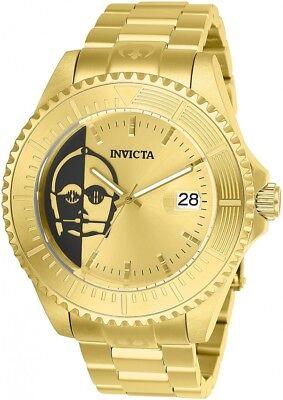 Invicta Men's 47mm Grand Diver STAR WARS Ltd Ed C3PO 18K Gold Auto. Wristwatch