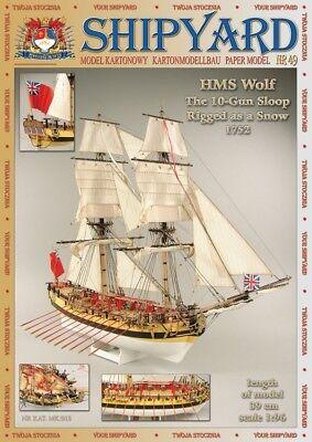 Shipyard 49: HMS Wolf (1752) 1:96 mit Lasercutteilen
