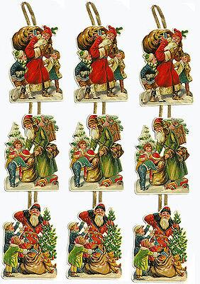 Victorian SANTA CHRISTMAS CARD s(Lot of 3) MINT CONDITION Shackman Company