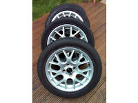 MINI ALLOYS AND GOOD TYRES - 16 INCH