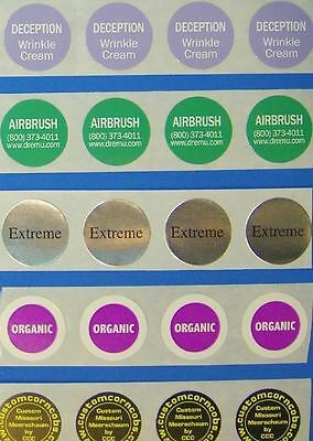 Printed Round Labels 250 Custom Business Stickers 34 Diameter Circle 1-color