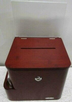 Safco Cherry Bamboo Suggestion Box 4237cy New Open Box