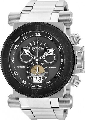 Invicta 51mm Coalition Forces Swiss 17646 Chronograph All Stainless Steel Watch