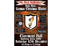 STALLS WANTED - German Christmas Market - Surbiton - Saturday 10th December 10:30am-12:30am