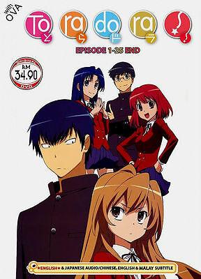 Dvd Japanese Anime Toradora  Tv 1   25 End   Ova Eng Dubbed Free Ship