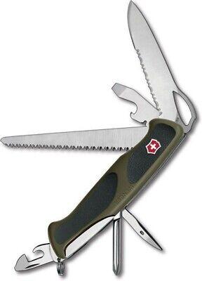 Victorinox Swiss Army Green Black Rangergrip 178 Multi-Tool Saw Knife Driver