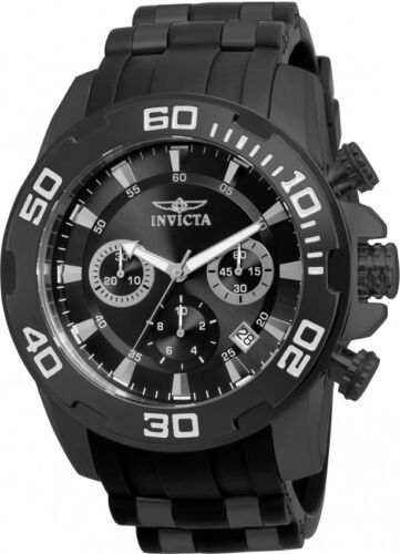 $69.99 - Invicta Men's 22338 Pro Diver Chronograph 50mm Black Dial Steel-Rubber Watch