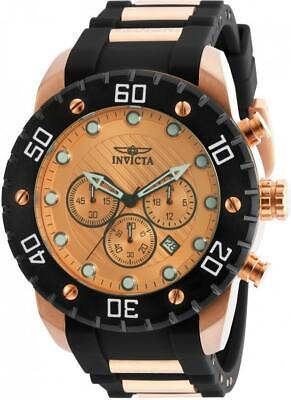 Invicta Men's Pro Diver Rose Gold Japan Chronograph Polyurethane Watch 20281