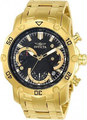 Invicta 22767 Pro Diver Gold Tone Chronograph Bracelet Men's Watch