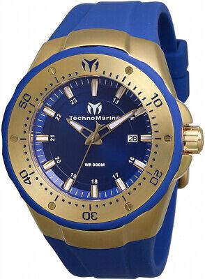 Technomarine TM-218019 Manta Men's 48mm Gold-Tone Steel Blue Dial Watch