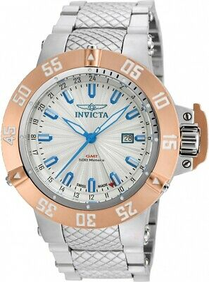 Invicta Men's 50mm 'Subaqua' Swiss Quartz GMT Stainless Steel Watch 21728