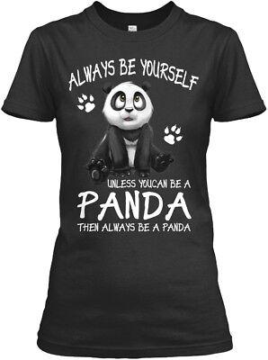(Always Be A Panda Gift Gildan Women's Tee T-Shirt)