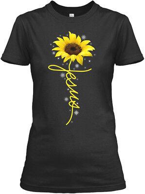 On trend Sunflower Christian Cross Faith Jesus Gildan Gildan Women