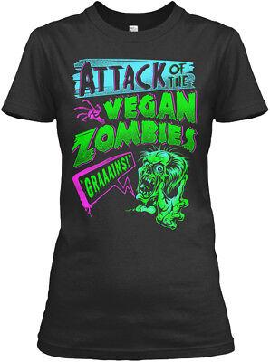 Vegan Zombies Halloween Costume Vegans Gildan Women's Tee T-Shirt (Vegan Woman Halloween)