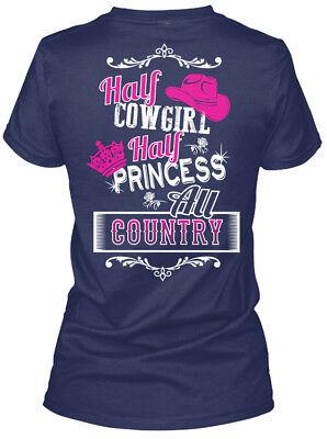 Half Princess - Cowgirl All Country Gildan Women's Tee - Cowgirl Princess