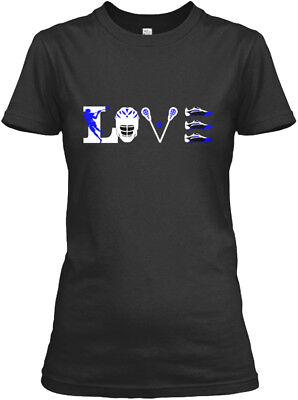 Love American Lacrosse - Gildan Women's Tee (Lacrosse T-shirt Tee)