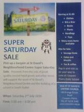 Super Saturday Sale at St David's Neighbourhood Centre Coopers Plains Brisbane South West Preview