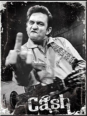 Johnny Cash Finger metal fridge magnet (na)