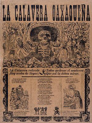 Mexican POSTER decoration.Oaxaca Skeleton.Art Decor.Dia de los muertos.849
