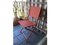 🌞 🍉 Foldable chair (patio/ balcony/ garden or indoors)