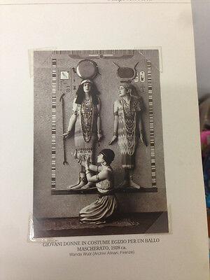 RIPRODUZIONE FOTO ALINARI DONNE IN COSTUME EGIZIO BALLO MASCHERA 9X12 1928 (4)