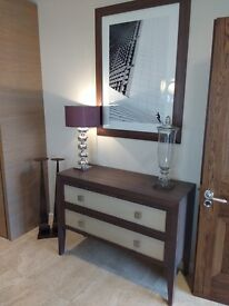 Stained Walnut Console Table