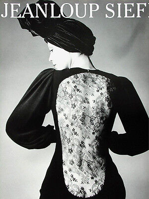 Yves Saint Laurent Paris 1970≈Jeanloup Sieff≈Fashion Photo Poster 24x31 France