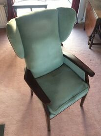 Vintage Parker Knoll wing back armchair