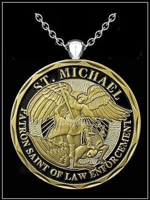 Medallion Bronze Chandelier - ST MICHAEL Coin Necklace - bronze challenge medallion pendant armor god z7qq