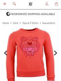 Girls Kenzo sweatshirt size 12A