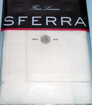 Sferra Fiona Boudoir Pillow Sham Solid Ivory Cotton Sateen New Ivory Boudoir Pillow