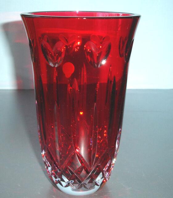 Waterford I Love Lismore 8 Red Vase 156209 Ebay