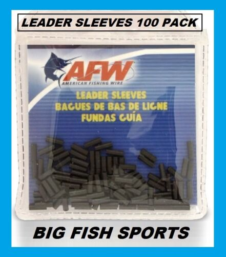 AFW Black Leader Sleeves NEW! # 100 PACK SINGLE BARREL- SIZES 1,2,3,4,5,6,7,8