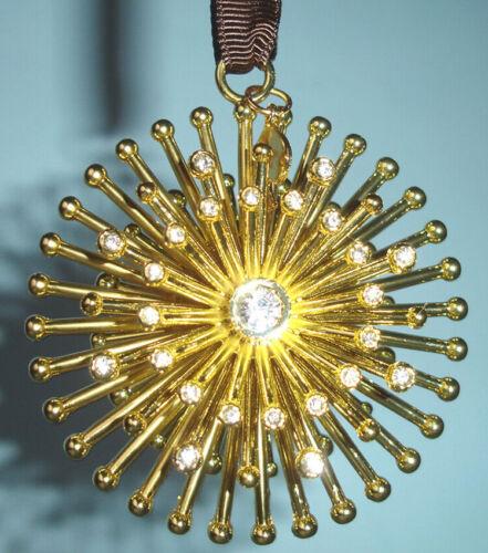 "Kate Spade Bejeweled Starburst Ornament 2.25"" Crystal Gems Lenox New In Box"