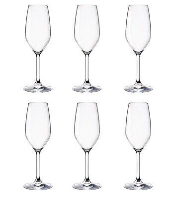 6 Bicchieri BORMIOLI ROCCO DIVINO Calice Flute 24cl in vetro NUOVI champagne