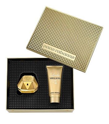 Cofanetto donna LADY MILLION PACO RABANNE profumo edp 50ml + body lotion 100ml segunda mano  Embacar hacia Spain
