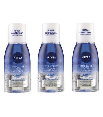 3pz NIVEA Desmaquilladores Ojos Doble Acción 125ml Para Sensible Nuevo Make Up