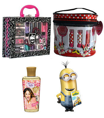 Kit regalo bimbi MONSTER HIGH + MINNIE + VIOLETTA + MINIONS 3D Idea Regalo NUOVI