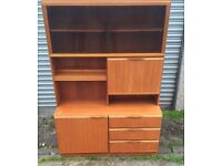 Retro Wall Unit/ DIsplay Cabinet - £50 FREE DELIVERY ANYWHERE IN EDINBURGH