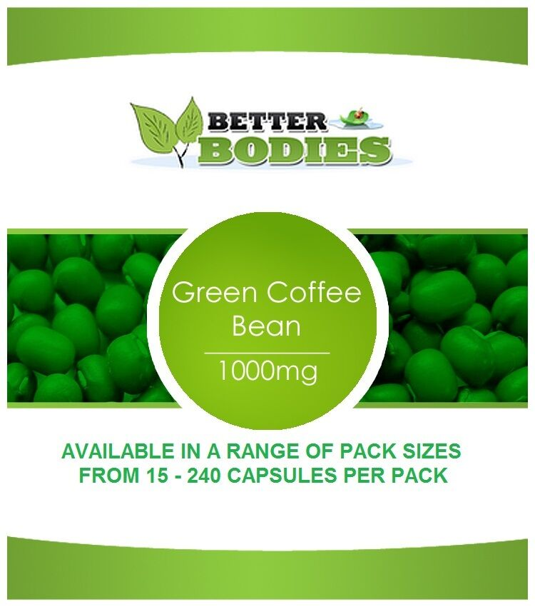 Green Coffee 1000mg Bean Extract Weight Loss Slimming Diet Pills